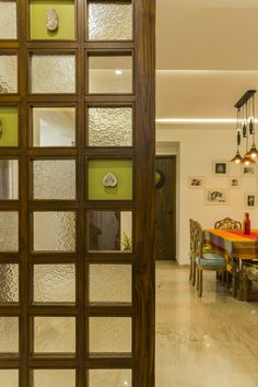 New door design modern interior home Ideas Wooden Partition Design, Wooden Partitions, Living Room Partition Design, Pooja Room Door Design, Room Partition Designs, Partition Ideas, Wooden Window Design, Partition Door, Traditional Interior