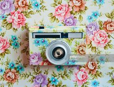 Camouflaged camera in wall wallpaper