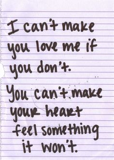 Bonnie Raitt, I Can't Make You Love Me. Adele does a beautiful version of this song.