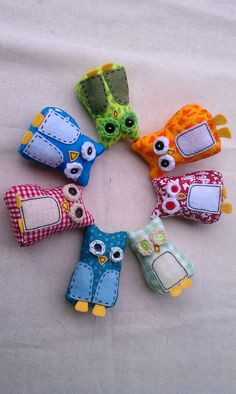 Mini Plush Owls Made To Order by MsBittyKnacks on Etsy, $8.00