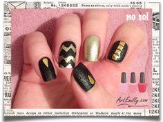 Black & gold - studs