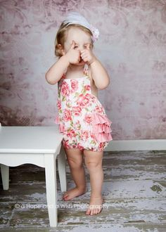 (9) Name: 'Sewing : Ruffled Bubble Romper for Girls