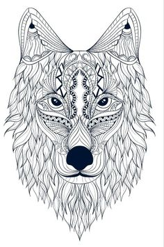 Spirit Animal Coloring Pages Animal Coloring Pages, Colouring Pages, Adult Coloring, Coloring Books, Indian Drawing, Embroidery Transfers, Animals Images, Spirit Animal, Colour Images