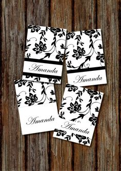Floral Wedding Placecards
