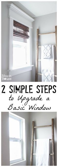 EASY DIY ways to revamp those boring basic windows. Only a trip to your local home improvement store required!