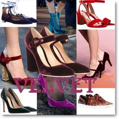 Inspiration: velvet shoes. From runways to street style, velvet shoes - sandals, boots, pumps - are a fashion statement  #inspiration   #shoes   #velvet   #trend   #fashiontrend   #fashion   #fashionblogger   #fashionblog