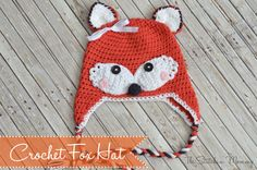 Crochet Fox Hat - The Stitchin' Mommy