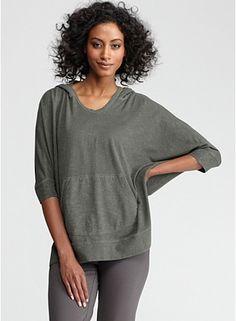 #sporty loose comfort wear {Hooded Box-Top in Organic Cotton Hemp Twist}