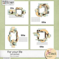 For Your Life Templates by Tinci Designs https://www.pickleberrypop.com/shop/product.php?productid=31147&cat=0&page=1