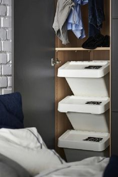 Stackable Laundry Hamper Youll Want To Try These Clever Ikea Hacks Livingly - Hampers - Ideas of Hampers Closet Drawers Ikea, Ikea Closet Doors, Ikea Closet Organizer, Closet Organization, Kitchen Organization, Kitchen Storage, Ikea Hacks, Ikea Hack Storage, Diy Storage