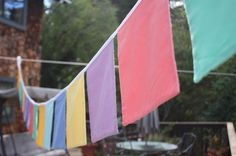 Square Bunting Flag Banner Custom Colors Solid by StarlitNestGifts, $45.00