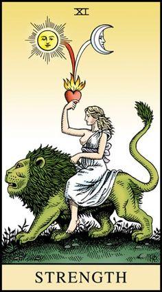 themagicfarawayttree:    Strength Card,The Alchemical Tarot