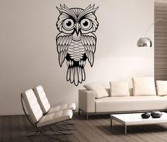 Owl Wall Decal Vinyl Sticker Art Decor Bedroom Design Mural interior design animals birds by StateOfTheWall on Etsy https://www.etsy.com/listing/224130042/owl-wall-decal-vinyl-sticker-art-decor