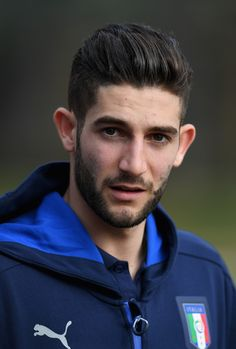 Roberto Gagliardini of Italy looks on prior to the training session at the club's training ground at Coverciano on February 22, 2017 in Florence, Italy.