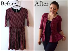 How do you reuse clothes that are too small? You can upcycle them them into something new like a pillow or you can refashion them to fit you! Refashion Dress, Diy Clothes Refashion, Refashioned Clothes, Thrift Store Refashion, Diy Dress, Reuse Clothes, Sewing Clothes, Diy Couture, Altering Clothes