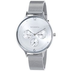 Skagen  Women's Anita Watch ($140) ❤ liked on Polyvore featuring jewelry, watches, women's accessories, skagen jewelry, water resistant watches, bracelet watches, skagen watches and bracelet jewelry