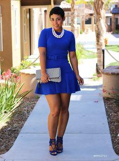 DIY Blue Flounce Dress + Steve Madden Heels - Mimi G Style