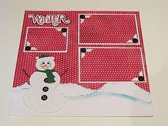 snowman 3-photo layout