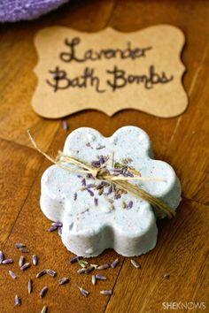 DIY lavender bath bombs - Toss A Fizzy Bath Bomb Into Your Tub!