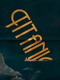 """Titanic"" Minimalist Movie Poster by Worth1001, via Flickr"