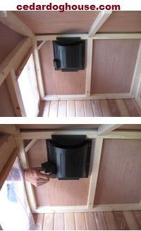 This optional heater is a safe and effective way to create a heated dog house or heated outdoor cat house.