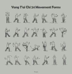 TaiChi Yang 24 style movement form. A 5 page wedsite about TaiChi, see it at http://www.henrysanchez.net/portfolio/taichi/