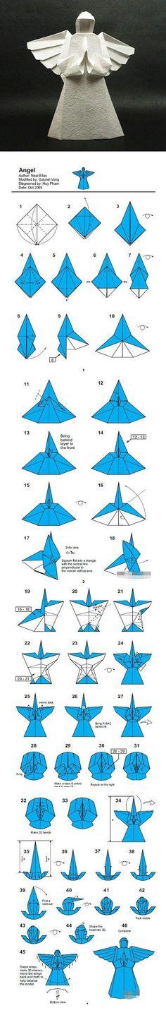 angel de origami