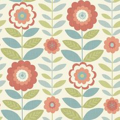 Shop for Arthouse Flower Power Coral And Teal Wallpaper at wilko - where we offer a range of home and leisure goods at great prices. Floral Print Wallpaper, Coral Wallpaper, Feature Wallpaper, Pattern Wallpaper, Floral Prints, Textile Patterns, Print Patterns, Flower Power, Teal Coral