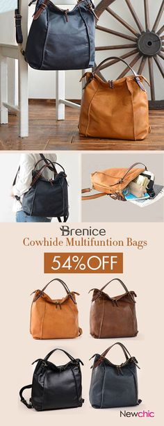 Brenice Tote Faux Leather Handbags Vintage Multifunction Backpack Shoulder Bags is designer and cheap on Newchic. Fashion Bags, Fashion Backpack, Fashion Accessories, Vintage Bags, Vintage Handbags, Tote Handbags, Purses And Handbags, Quoi Porter, Beautiful Bags