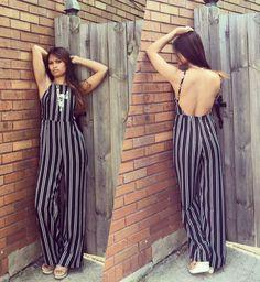 HYFVE black/white stripe jumpsuit!