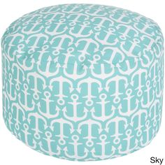 Anchor your indoor or outdoor space in fresh, fashionable design with this perfect pouf! Featuring bold anchor designs sprinkled across an exquisite backdrop, this piece effortlessly crafts a trendy look for any room.