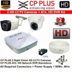 CP PLUS HD CCTV Cameras 2 with 4Ch. HD DVR Kit with All Accessories