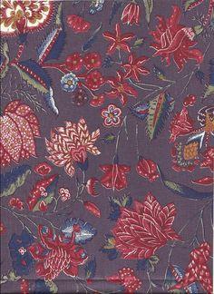 Genuine Dutch Cotton Chintz  Marken Purple  from etsy shop called Motifsbyhand