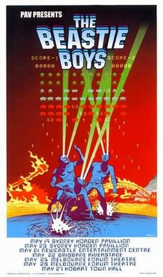 The Beastie Boys Concert Poster by Dilon  Nailor
