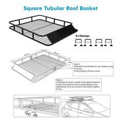Universal Roof Rack Basket Car Top Luggage Carrier Cargo Holder Travel x