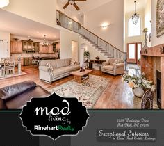 Mod Living Collection by Rinehart Realty focuses on exceptional interior design found in our local real estate listings.  Utilizing the inspiration and creativity found within the homes in our service area, we can better market the listings for our sellers, share design ideas with our clients, and illustrate the extraordinary level of professionalism and service provided by our team.  Featured here:   2233 Woodridge Drive, Fort Mill, SC 29715