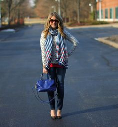 IMG_4434 copy by levell333, via Flickr Anchor Sweater, Style Me, Plaid, Sweaters, Shirts, Outfits, Tops, Women, Fashion