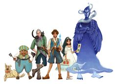 Castle in the Air -- Diana Wynne Jones (Phoenix Chan Illustration) So good someone should animate this <3
