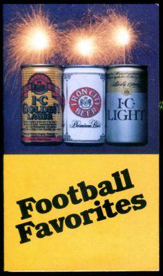 1986 IRON CITY BEER FOOTBALL FAVORITES POCKET SCHEDULE PENN STATE STEELERS REDSKINS EAGLES $3.99