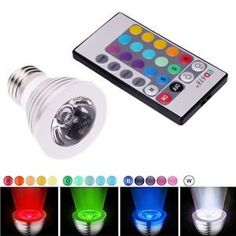 3W E27 16 Color LED RGB Magic Spot Light Bulb Lamp w/ Wireless Remote Control ** Click on the image for additional details.