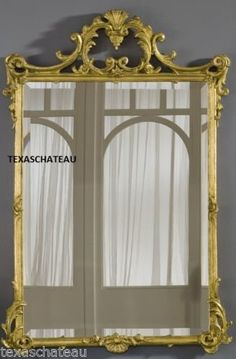 Large Gold Wall Mirror large ornate antique gold arched wall mirror french regency