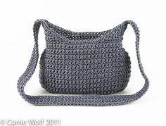 How to insert a zipper and line a crochet purse tutorial