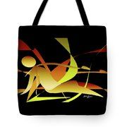 Woman Resting Tote Bag by Laura Greco