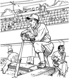 baseball game coloring pages | Pitcher Baseball Coloring Page ...