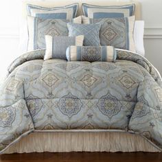 Victoria Falls 7-pc. Jacquard Comforter Set & Accessories      found at @JCPenney