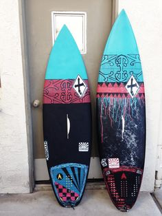 Surfboard art by Homero Villa Jr