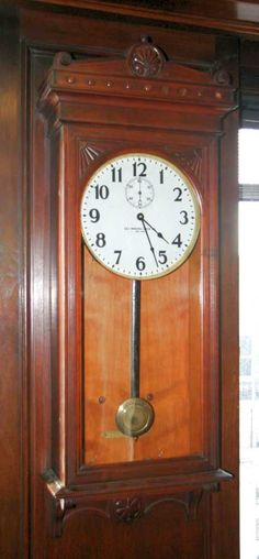 Wall clock from the Self Winding Clock Company