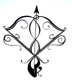 Sagittarius tattoo, this is going to be my next one for sure, I think I want it on my shoulder or my ribs. I'd rotate this image 45 degrees to the left though.