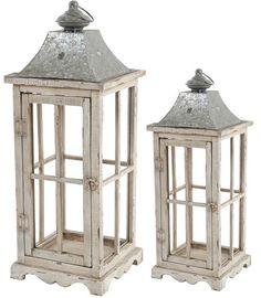 Evely Enclosed Lantern w/ Handle Set Of 2