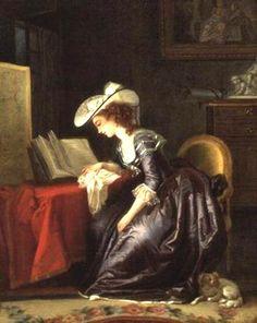 """ Woman reading a book ""  Jean Frédéric Schall, ( 1752 - 1825 )"